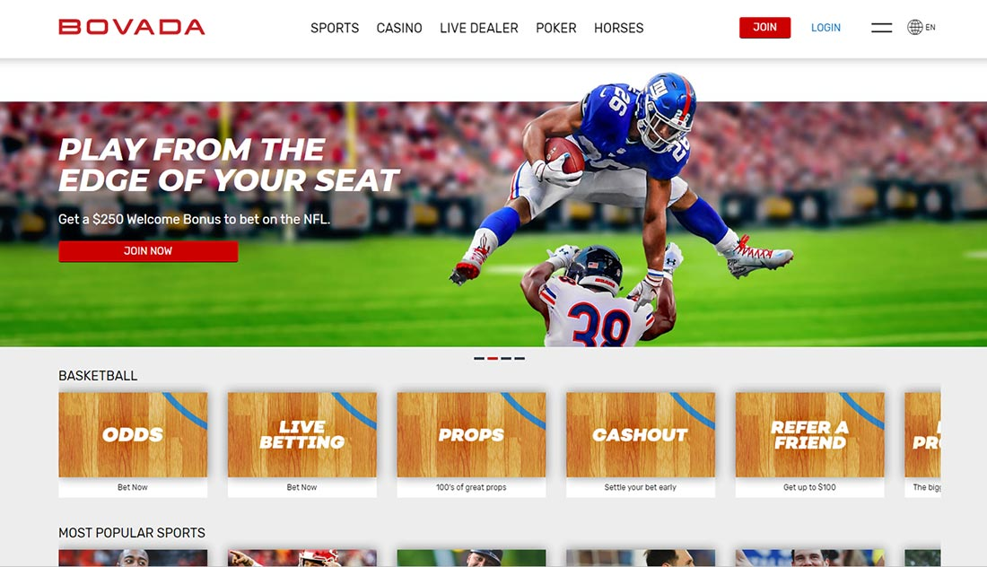 Bovada Sportsbook Review And Bonus For Canada